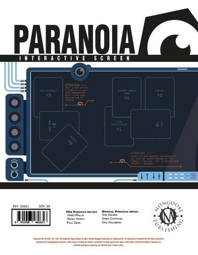 Paranoia RPG Interactive Screen