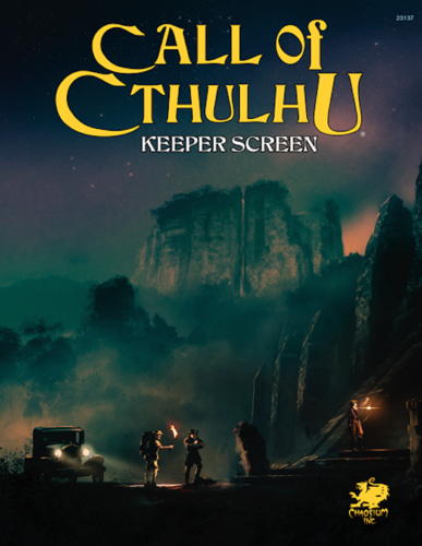 Call of Cthulhu RPG 7th edition Keeper Screen